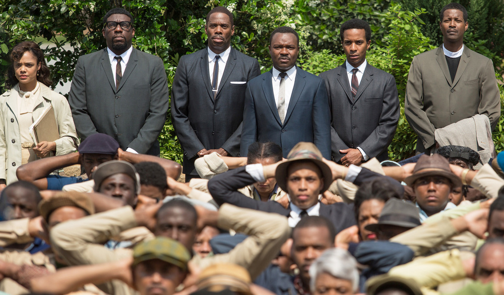 Oxford native David Oyelowo (centre) plays Martin Luther King in Ava DuVernay's stirring portrait of the civil rights movement,  Selma.