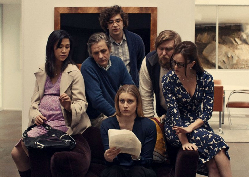 Greta Gerwig (centre) finds herself the subject of an unflattering character study in Mistress America.