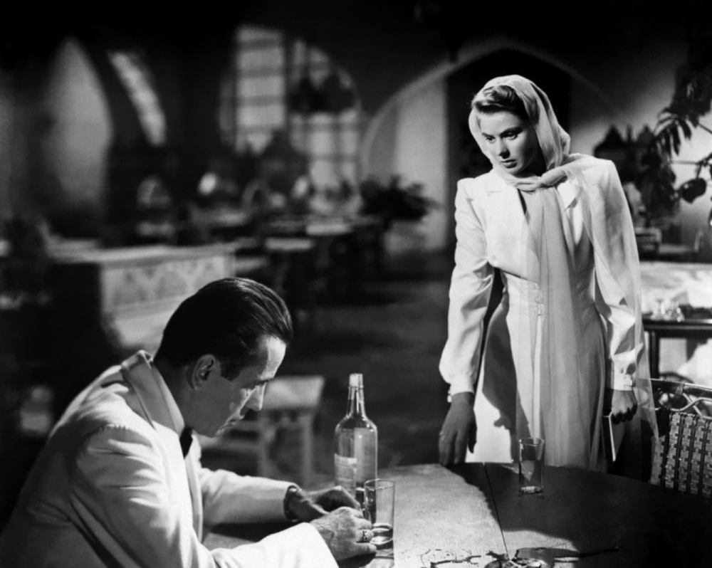 Humphrey Bogart and Ingrid Bergman in  Casablanca  (1942), the film that made both actors into indelible icons of Hollywood.