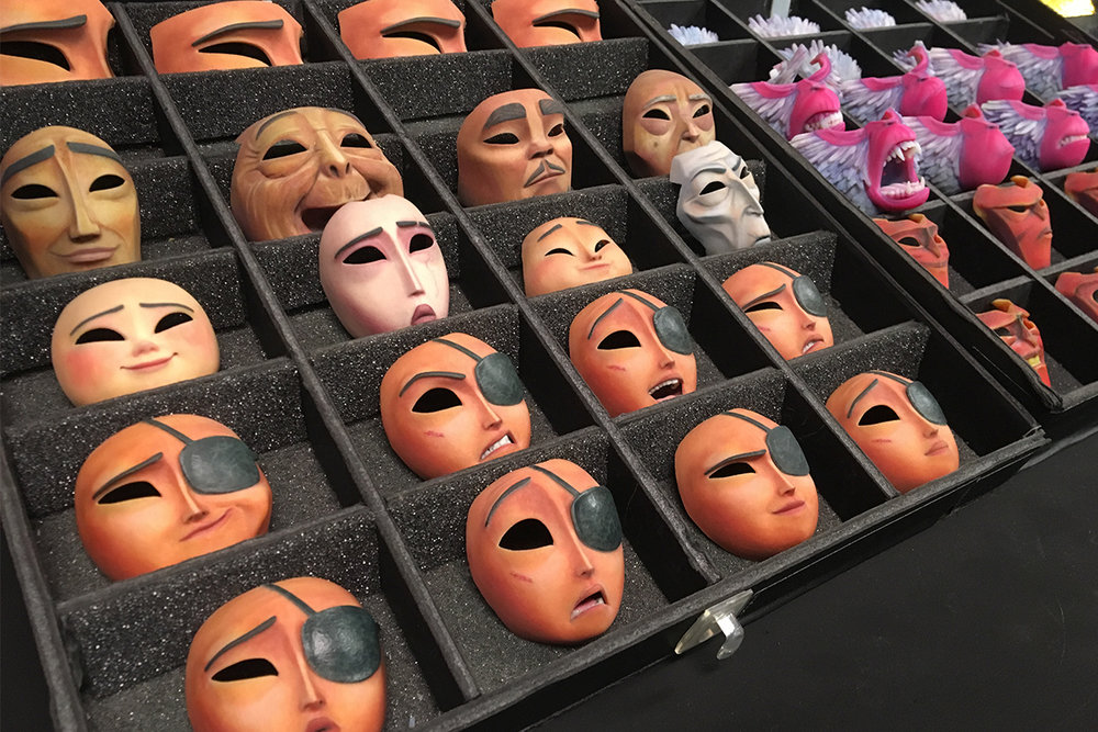 ... tens of thousands of 3D-printed faces, with which the animators could achieve not just a greater range of movements in the characters' expressions but also literal depth in the flesh and structure of the characters' faces.