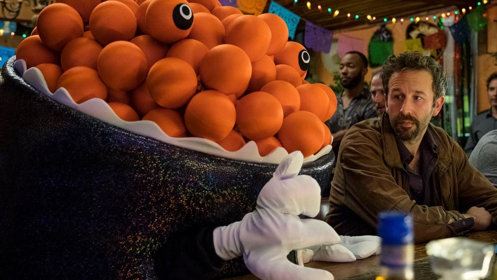 Chris O'Dowd in  Mascots  (2016, USA – dir. Christopher Guest)