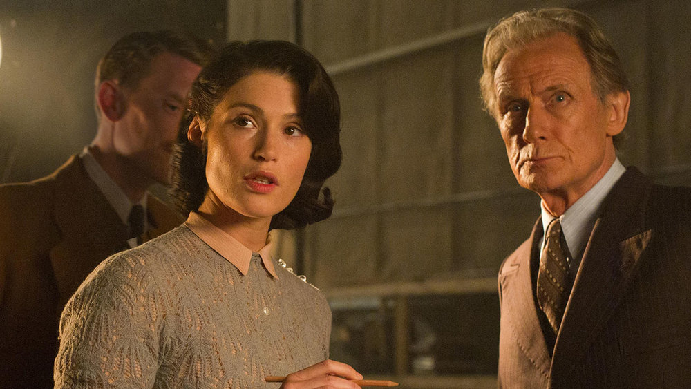 Gemma Arterton and Bill Nighy in  Their Finest  (2016, UK – dir. Lone Scherfig)