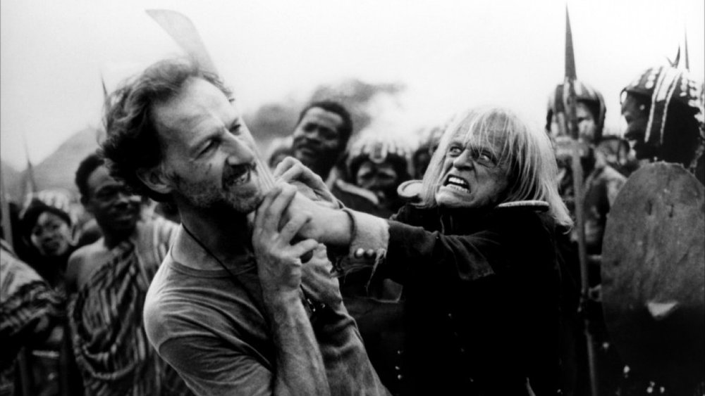 Werner Herzog on the set of  Cobra Verde  (1987) with the most famous star of his narrative fiction films, Klaus Kinski. One of Herzog's finest documentaries, which we had not time to mention on this episode, is his moving memoir of his relationship with Klaus Kinski,  My Best Fiend  (1999).