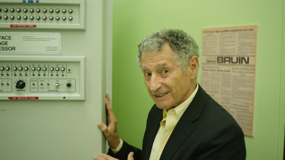 Lo & Behold, Reveries of the Connected World (2016) begins with Dr Leonard Kleinrock guiding us through the UCLA basement room, where the first internet communication originated.