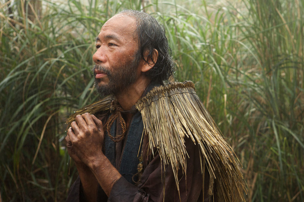 Shinya Tsukamoto in the pivotal role of Mokichi in Silence.