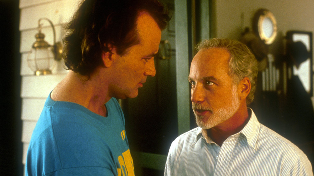 Bill Murray is the patient, who will not give his psychiatrist (Richard Dreyfuss) any time off in What About Bob?