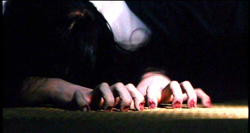 The evil spirit Sadako from Hideo Nakata's seminal J-horror classic, Ringu.