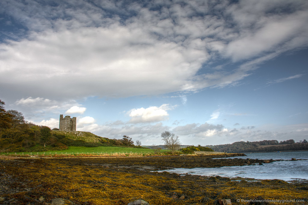 Winterfell & Robb's Camp at Audley's Field, Strangford Lough. Image credit www.thewholeworldisaplayground.com.