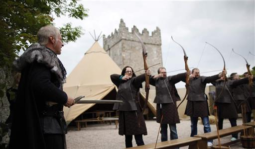 The archery experience at Winterfell. Image courtesy of Tourism Northern Ireland.