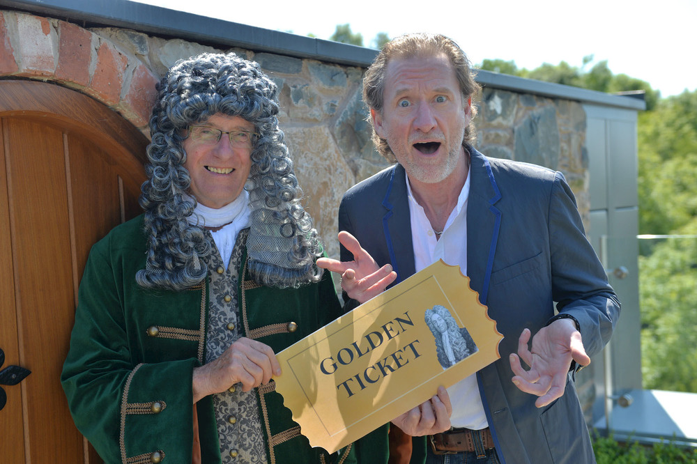 Hans Sloane offers chef Paul Rankin a 'golden ticket' to this year's festival