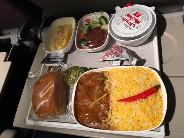 In-flight food