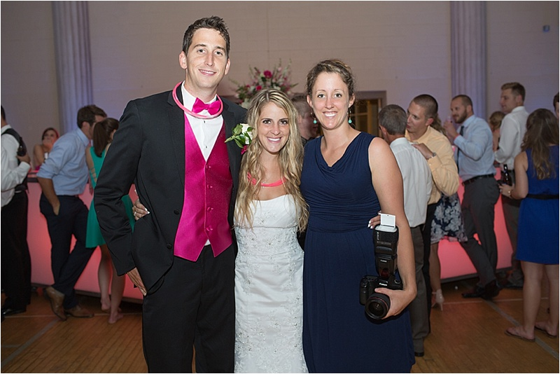 Thank you Kayla for getting this shot of me with the bride and groom!