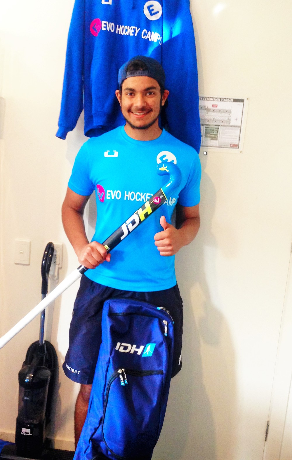 Johann with his EVO Hockey & JDH gear