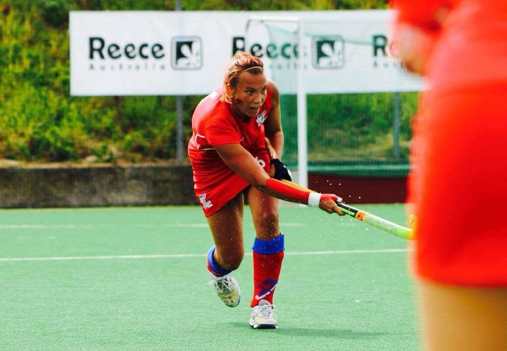 EVO coach Bara Kavanova in action for the Czech Republic at the Hockey World League Round 1, Prague - September 2016