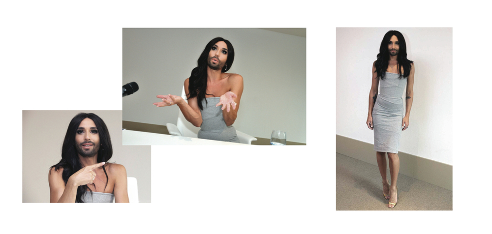 CONCHITA WURST DURING PRESS CONFERENCE IN ANTWERP