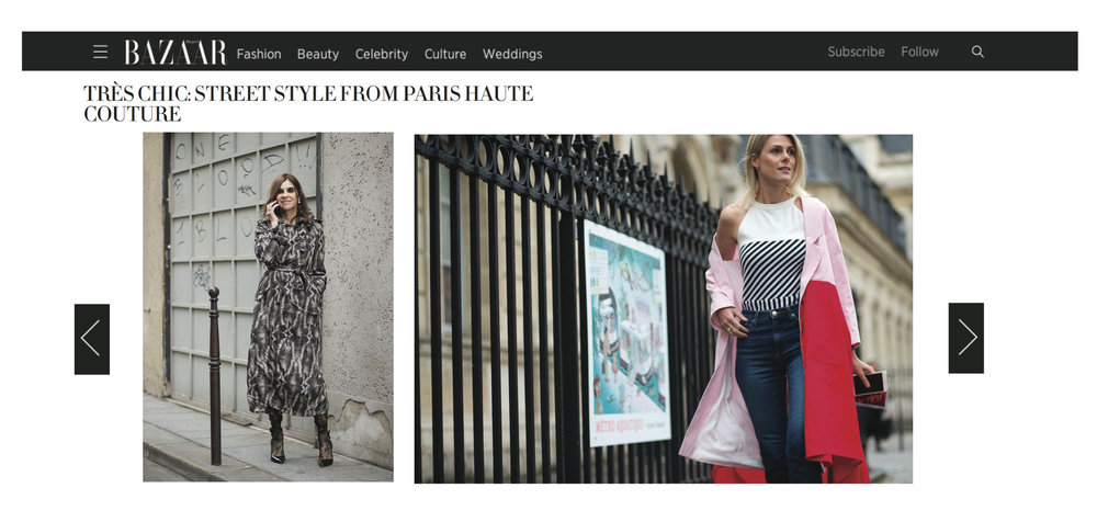 FASHIONATA'S SOFIE VALKIERS WEARING WIM BRUYNOOGHE DURING PARIS COUTURE WEEK