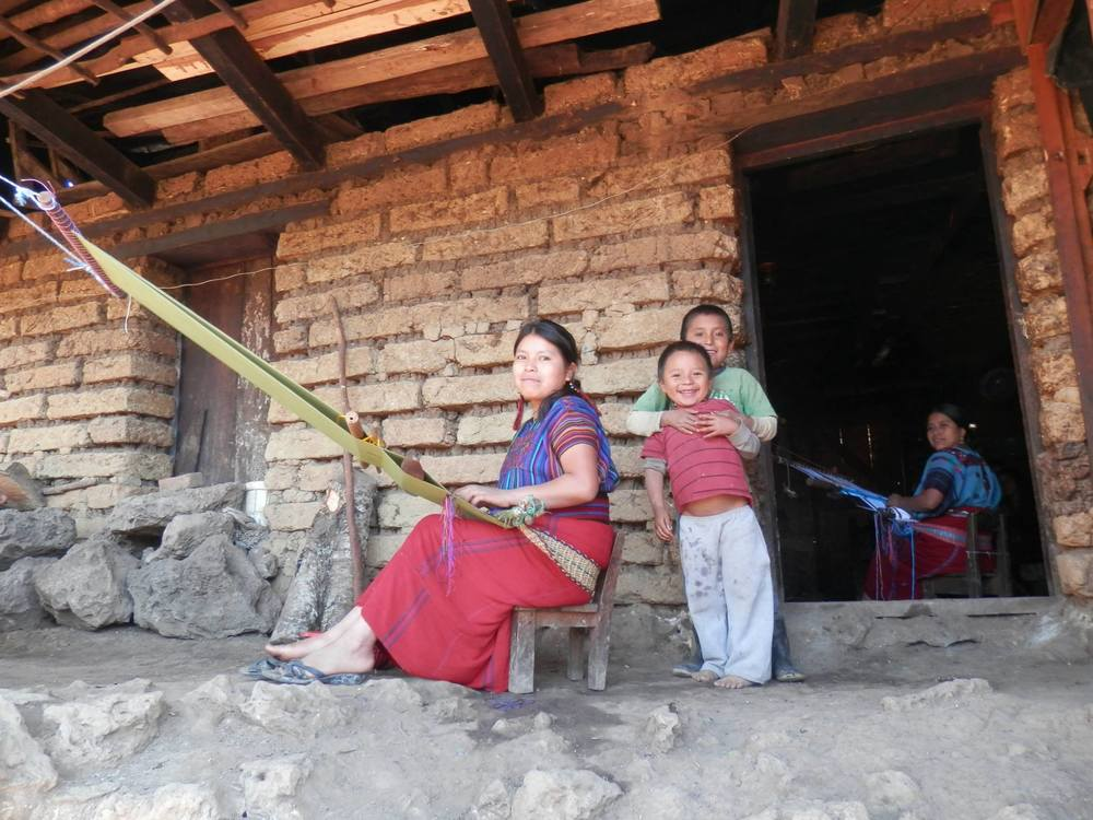 Mayan women working on their backstrap looms near Nebaj, K'iche, Guatemala in 2013. Photo: Madretierra Sato