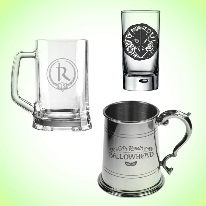 GLASSES AND TANKARDS
