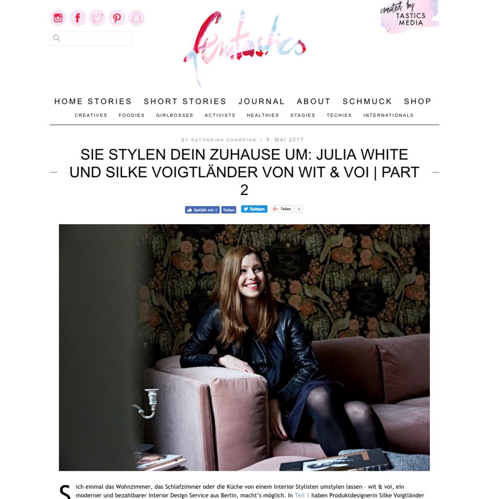 Femtastics - Sie stylen dein Zuhause um: Julia White & Silke Voigtländer von wit & voi  | PART 2