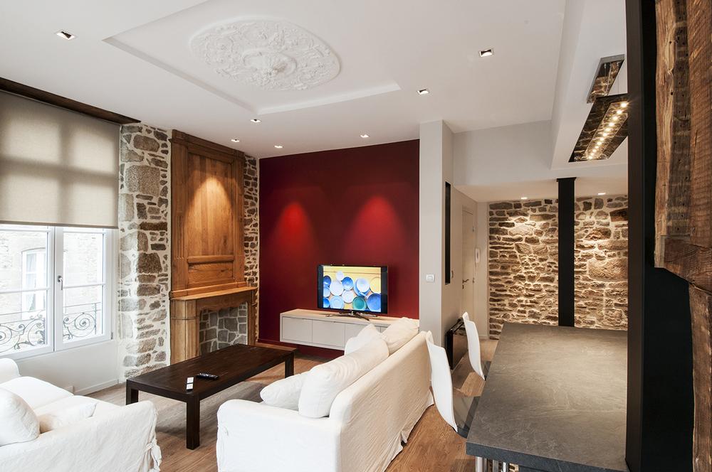 DINAN - Réhabilitation et restructuration d'un appartement  - SURFACE : 75 m2 - Maître d'ouvrage : Particulier