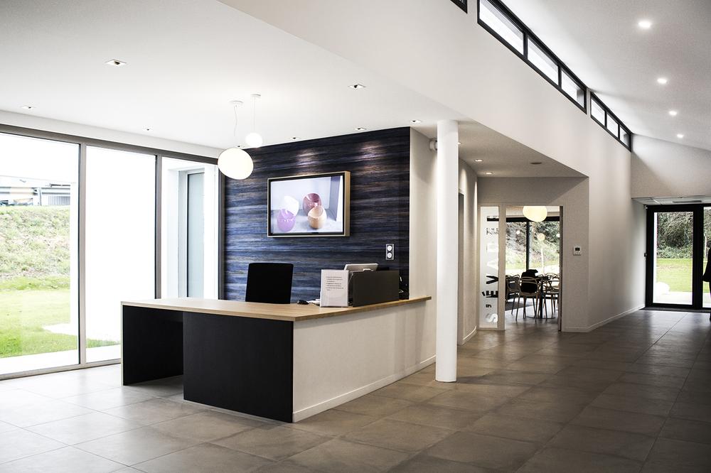 PLÉRIN - Pompes Funèbres des communes associées - En collaboration avec l'agence Bucaille & Wiener (gros oeuvre)  - SURFACE: 380 m2 -Maître d'ouvrage: Professionnel