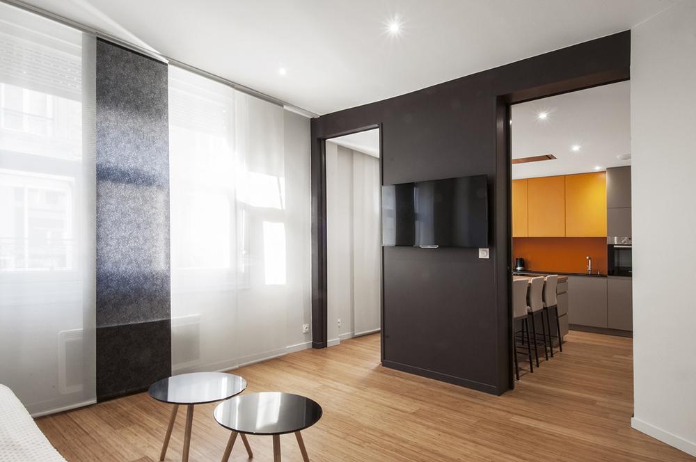 DINARD - Réhabilitation et restructuration d'un appartement  - SURFACE: 65 m2 -Maître d'ouvrage: Particulier