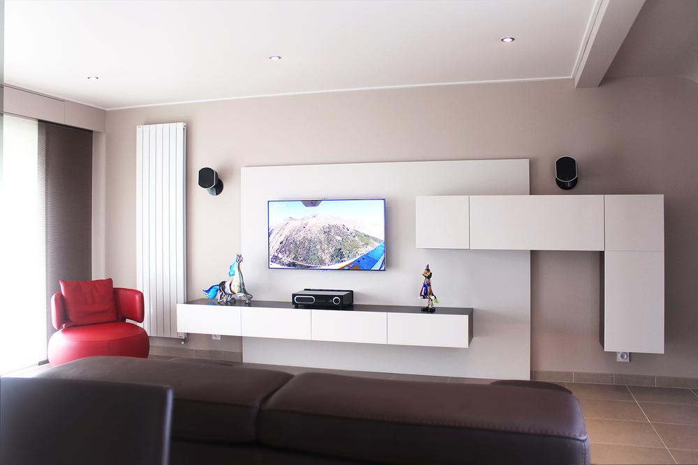 DINARD - Aménagement d'un espace TV  -  SURFACE : 33 m2 -Maître d'ouvrage : Particulier