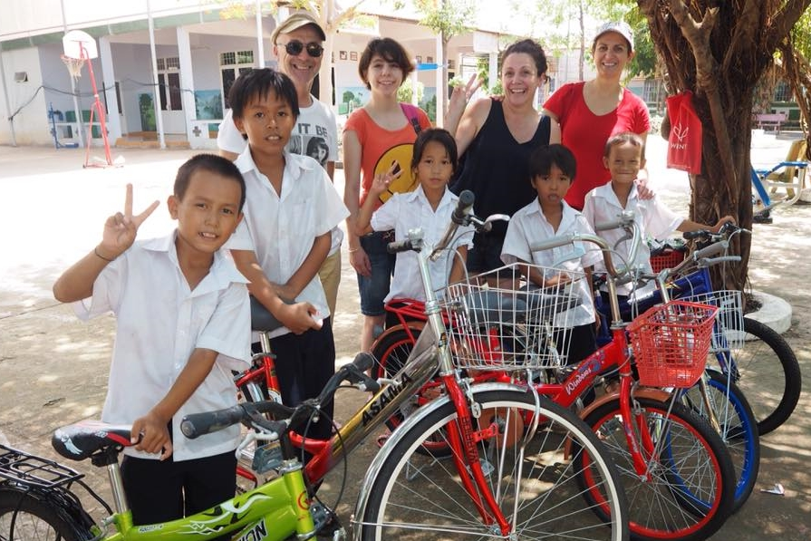 The first 5 of our little chickens to receive bikes from Our Project Pushbike