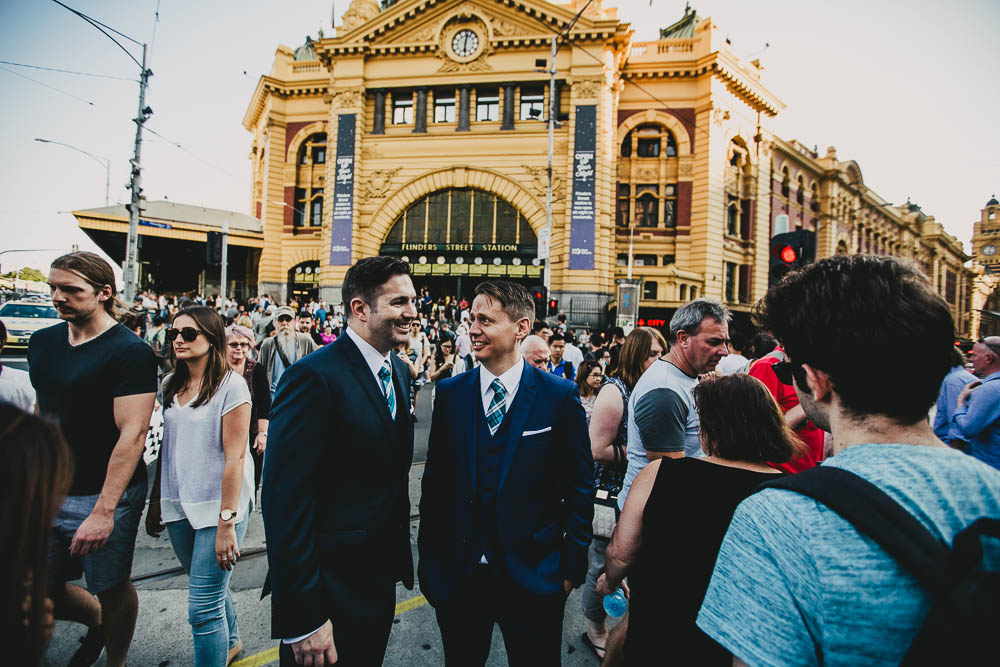Ben & Ash were married in the British Consulate and then had a ceremony the next day that was a true celebration. Their British marriage is now recognised in Australia - image by Dan Brannan