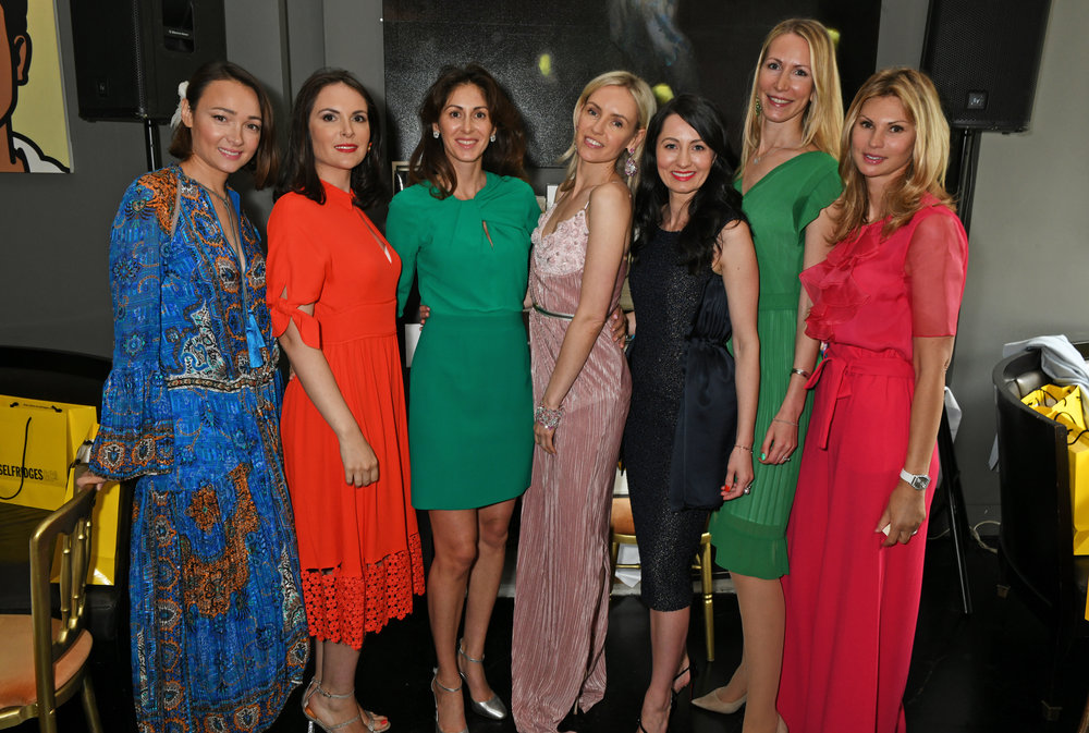 The committee for the london summer ladies lunch in support of the Nadezda foundation.