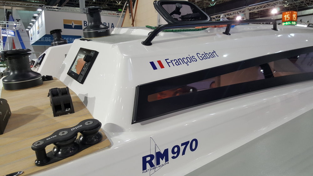 RM 970 Utstillingsbåten til Francois Gabart og FjordSailing i Dusseldorf. Årets vinner i Europa !!!