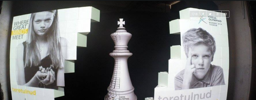 Tromsø 2014 Chess Olympiad, Sculpture adviser for  Studio Industries.