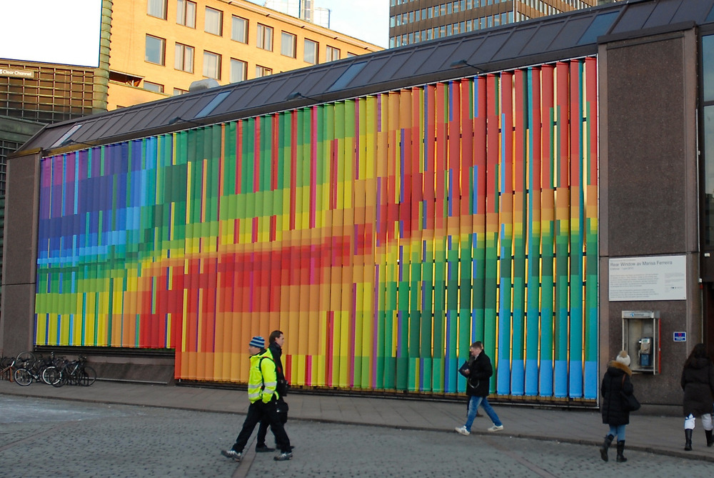 """Rear Window"" by Marisa Fereirra. Produced for  Kulturbyrået Mesen . Oslo Sentralsasjon, Oslo."