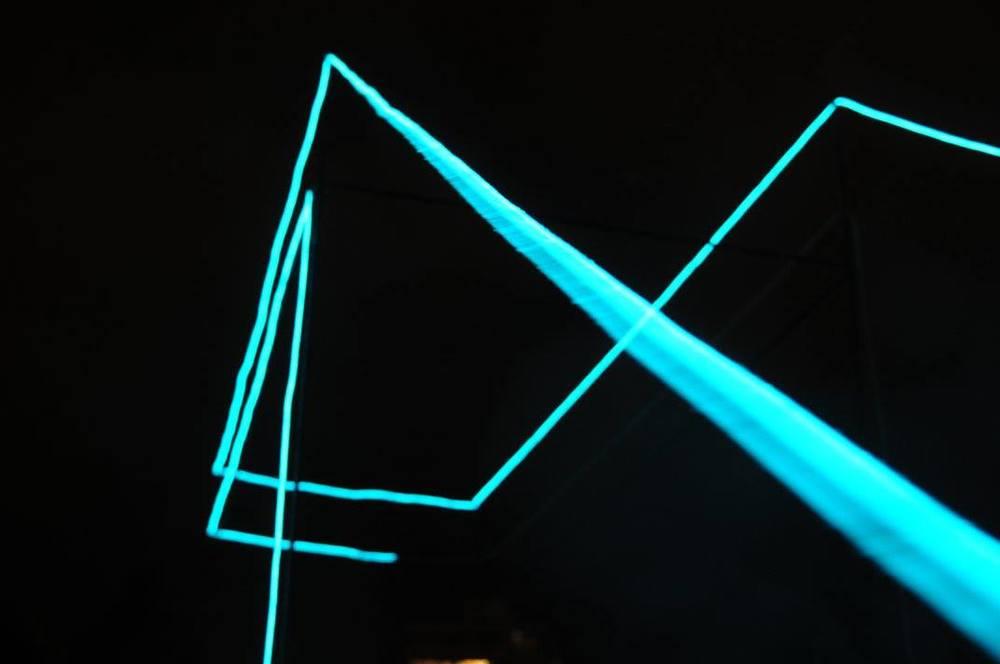 Dive , Elvelangs, Oslo. Interactive light installations together with  Kulturbyrået Mesen .