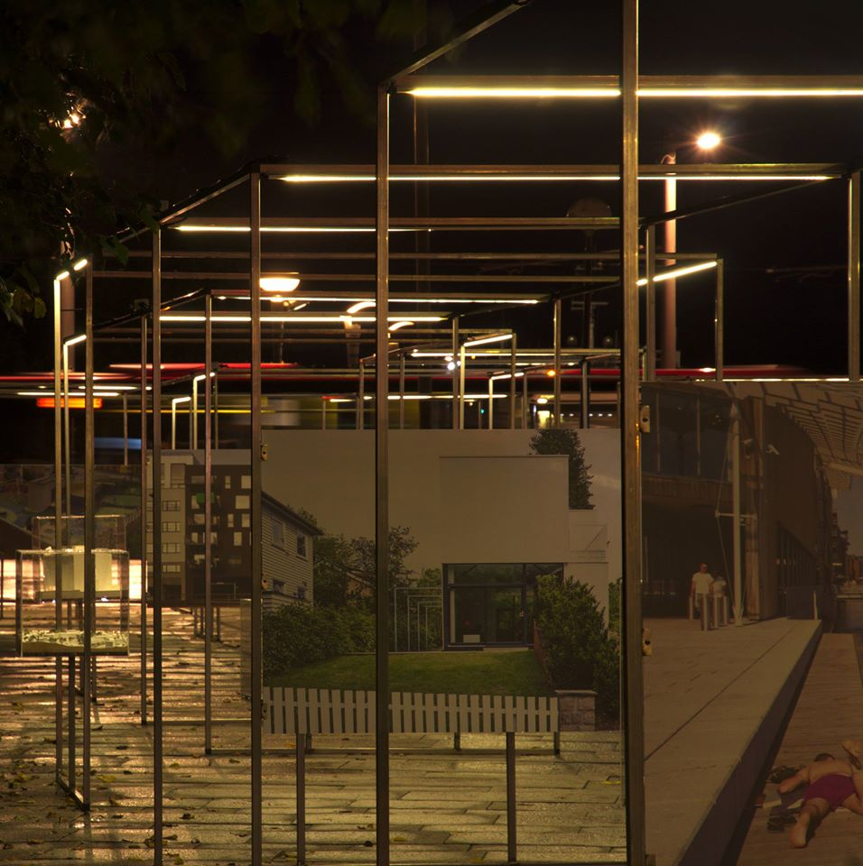 """ Raster "". Oslo bys arkitekturpris 2015. Rådhusplassen, Oslo. Concept development, design and production of the exhibition together with  Line Solgaard Arkitekter  and Kristine Wessel of  Kulturbyrået Mesen  for  Plan og bygningsetaten ."