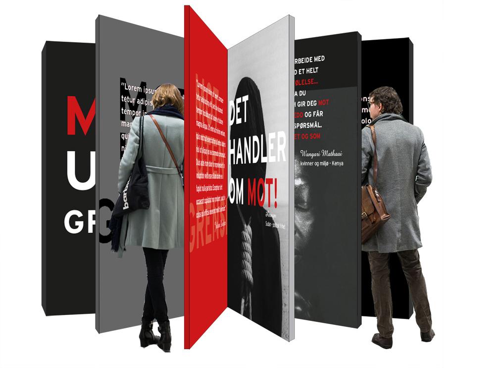 """""""Mot uten Grenser"""". Illustrations for installation concept. Kulturbyrået Mesen."""