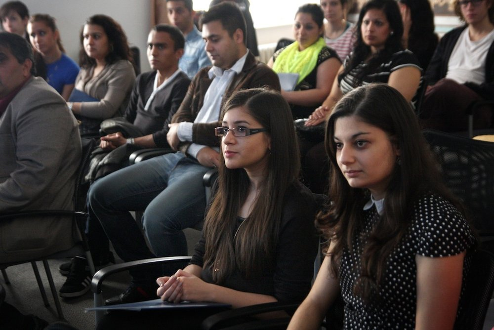 Roma university students in Prague. Photo credit: Open Society Fund Prague