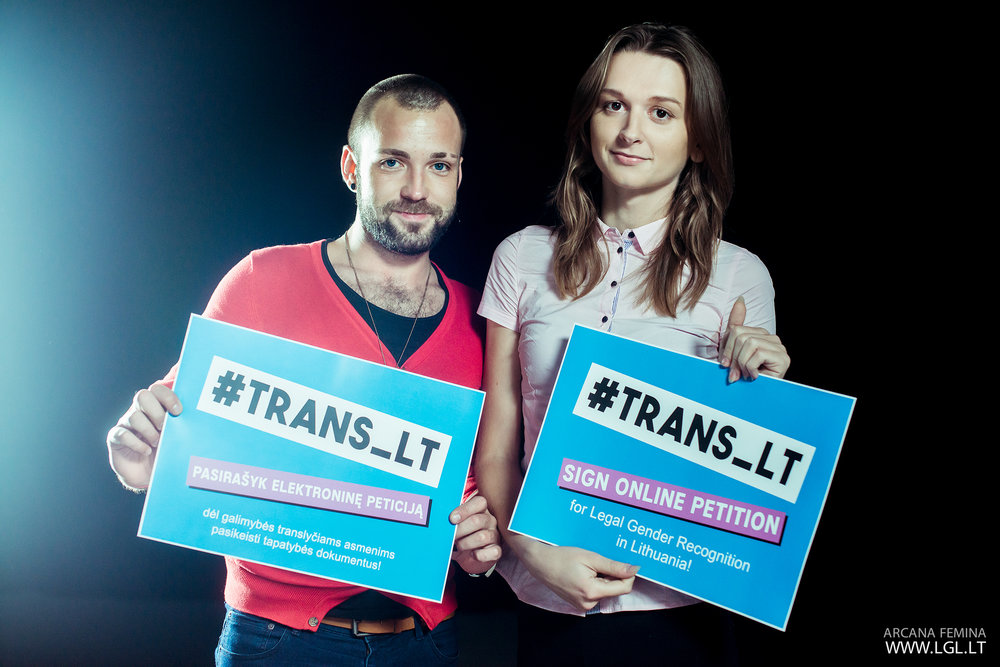 Social campaign #TRANS_LT by the National LGBT* rights organization LGL. Photo credit: LGL