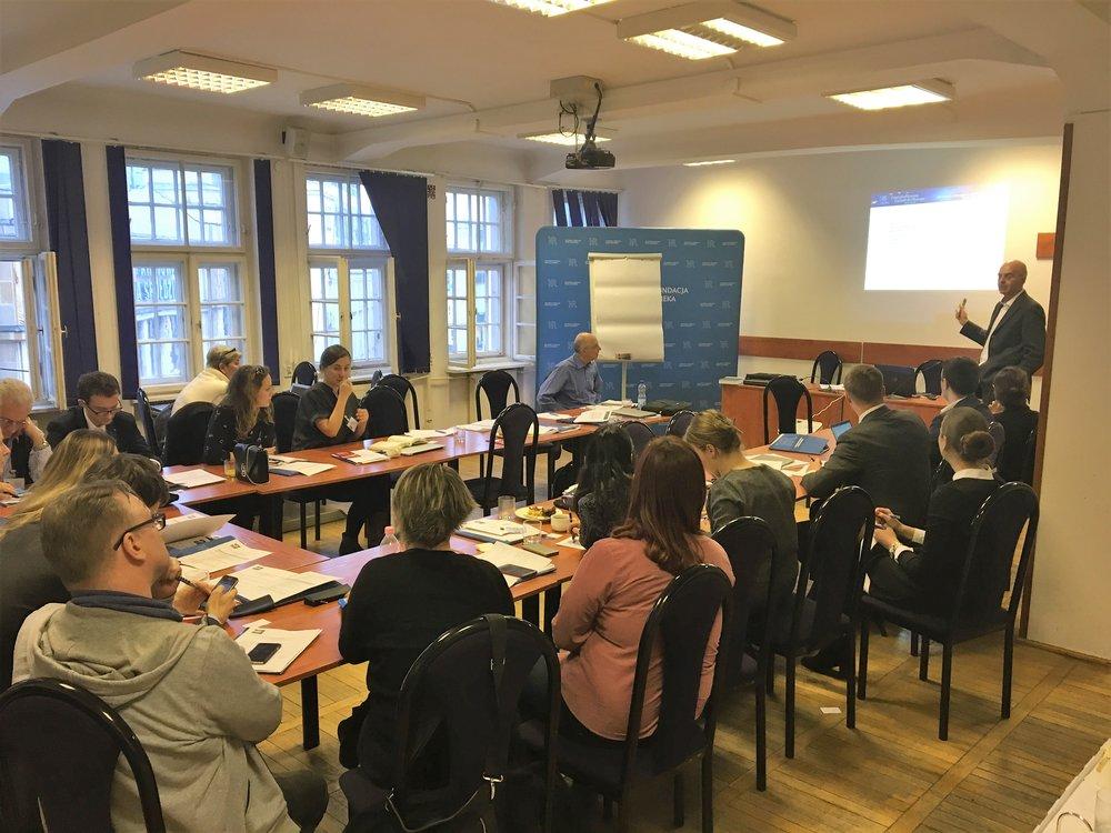 The first EIN training seminar, Warsaw, 2-3 February 2018. Photo: EIN