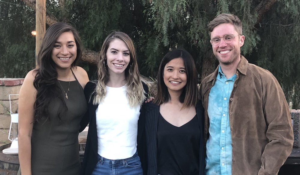 The four UCLA students involved in the study. From left: Paola Perez, Hillary Smith, Siyuan Meng and Daniel Coltellaro.