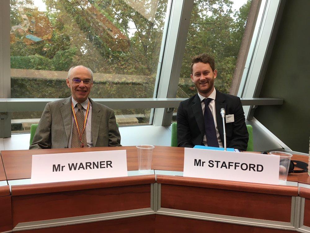 EIN Treasurer and EIN Co-Director George Stafford at the hearing. Photo: EIN