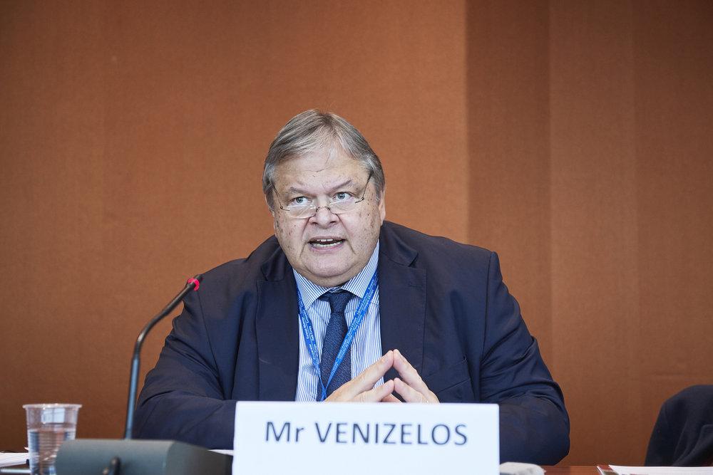 Evangelos Venizelos. Photo: CoE communication department.