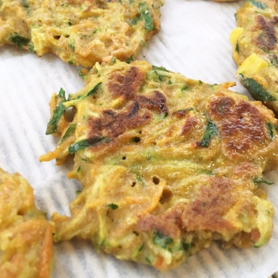 vegetable and quinoa fritters