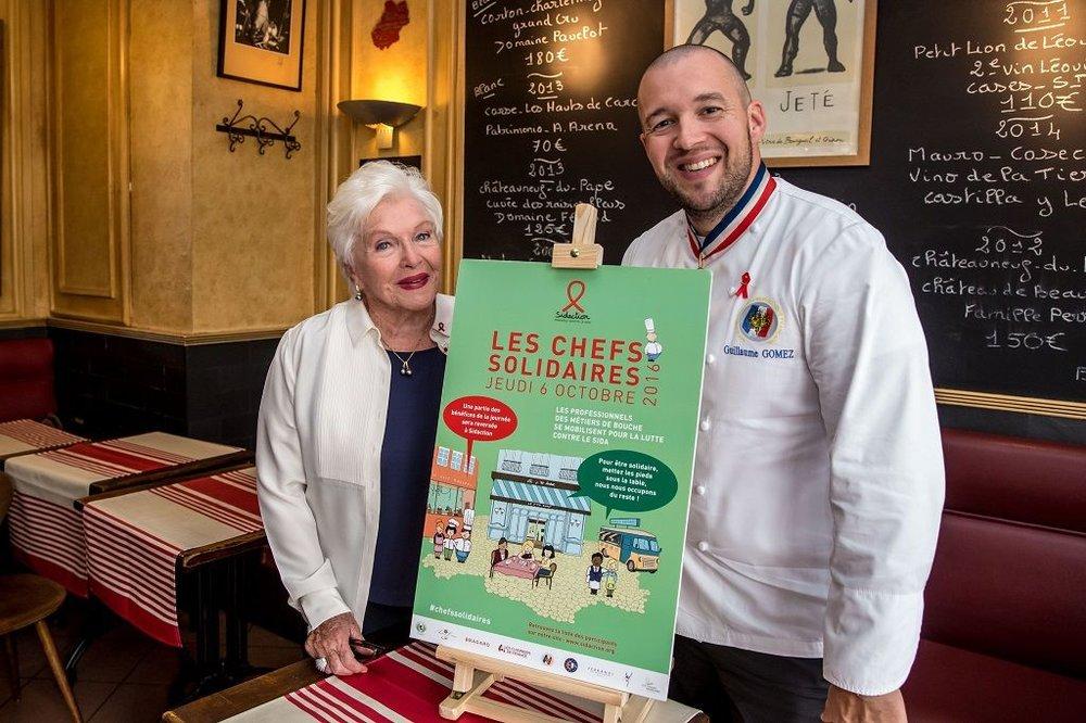 Line Renaud et Guillaume Gomez, chef des cuisines de l'Elysée et ambassadeur de cette 8ème édition. © Vincent Isoré