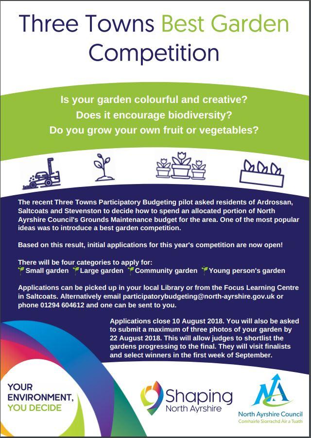3 Towns Best Garden Competition — PB Scotland