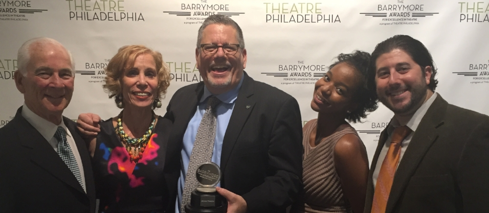 The 2016 Barrymore Awards: Steve Wolfson, June Wolfson, Kevin Glaccum, Kishia Nixon & Lee Porter.