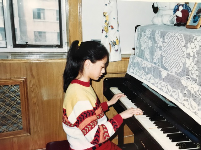 Ariel rockin' out age 11.