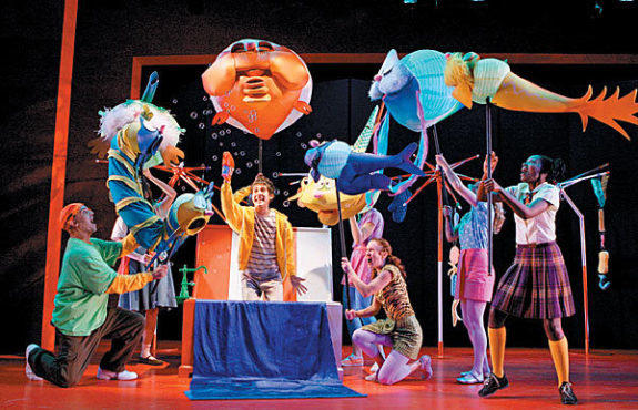 A staging of  Seussical at the Lucille Lortel Theatre; photos by Joan Marcus