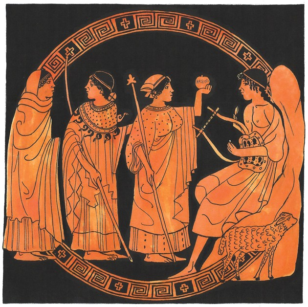 The three goddesses and the Apple of Discord. Beauty pageants, am I right? - Lucas