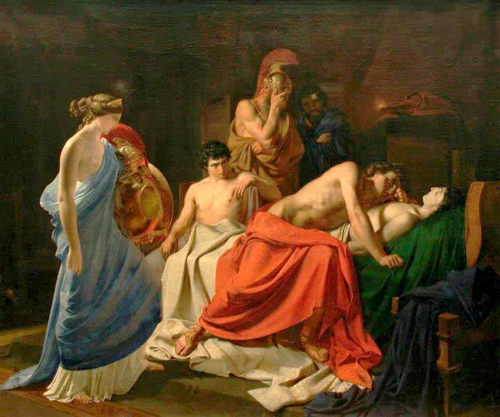 Achilles laments the death of Patroclus.
